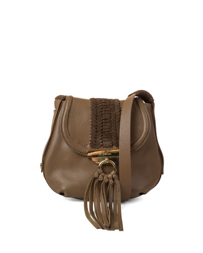 Sedona Braided Crossbody Bag, Brandy