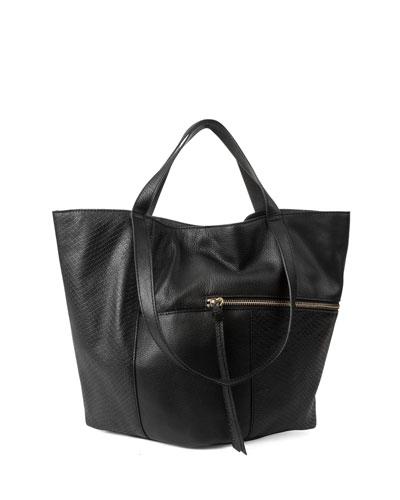 Prescott Snake-Embossed Tote Bag
