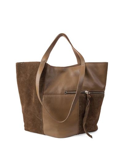 Prescott Suede-Trim Tote Bag