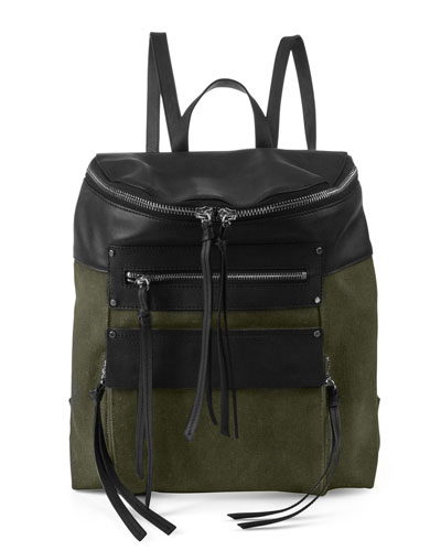 Phoenix Canvas Leather Backpack