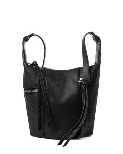 Prescott Snake-Embossed Crossbody Bag