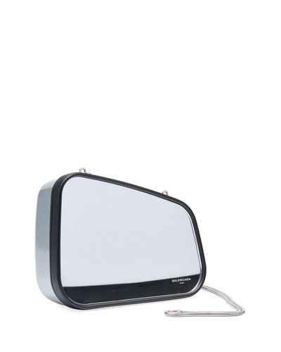 Case Retroviseur Metal Clutch Bag