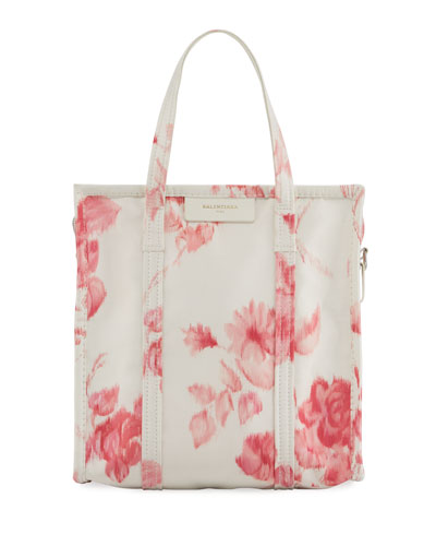 Bazar Shopper Small AJ Floral-Print Tote Bag