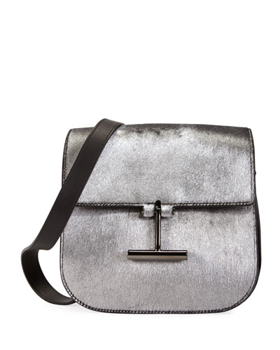 Tara Laminated Calf Hair Shoulder Bag