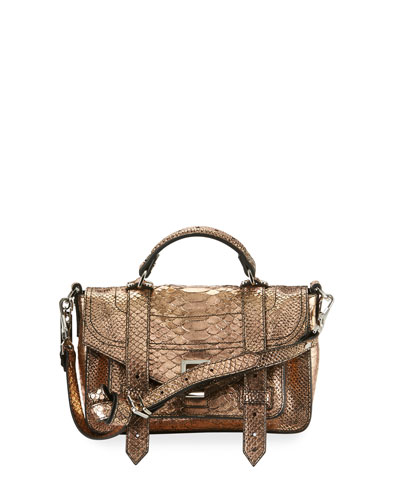 PS1+ Tiny Leather Satchel Bag, Rose Gold