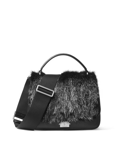 Mia Fur Shoulder Satchel Bag