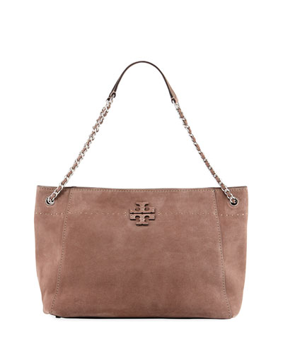 McGraw Suede Slouchy Tote Bag
