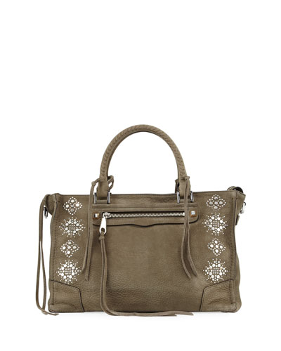 Regan Studded Satchel Bag