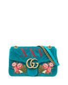 110th Anniversary GG Marmont Small XXV Velvet Shoulder Bag