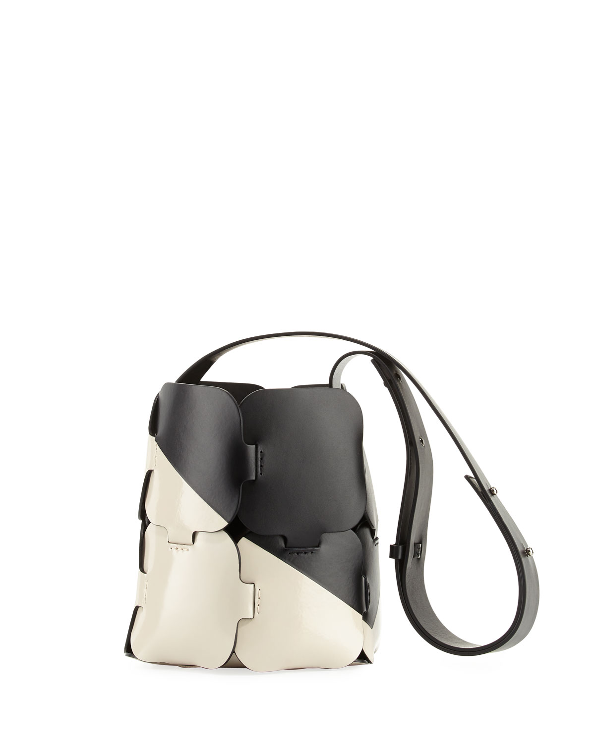 16#01 Patchwork Two-Tone Mini Hobo Bag
