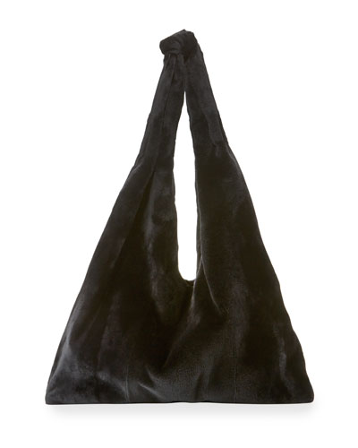 Bindle Mink Fur Hobo Bag