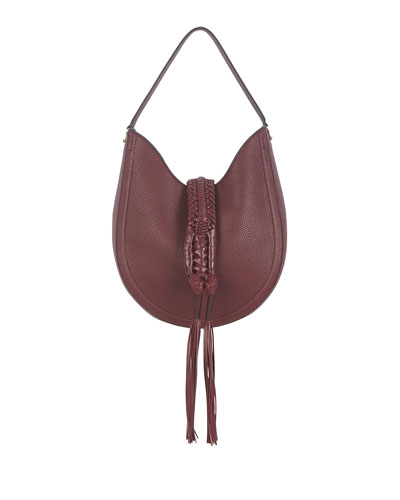 Ghianda Small Leather Hobo Bag