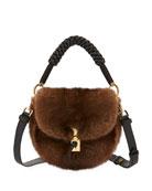 Ghianda Mink Fur Top-Handle Bag