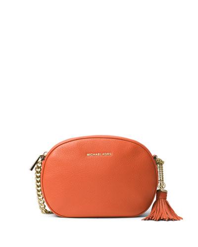 Ginny Medium Leather Messenger Bag