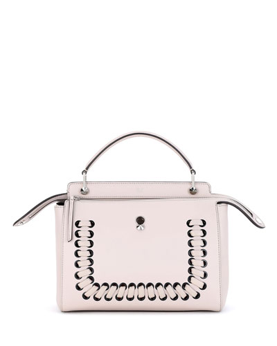 Dotcom Medium Whipstitch Satchel Bag, Powder Pink