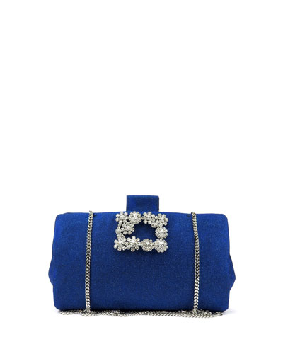 Soft Embellished Flowers Clutch Bag