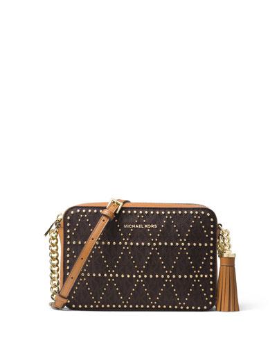 Michael Michael Kors Ginny Medium Studded Camera Bag