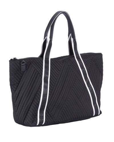 Jane Quilted Nylon Tote Bag