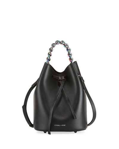 Ladie Mini Leather Bucket Bag