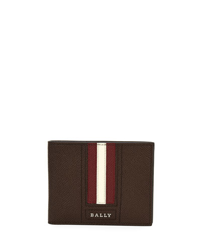 Tevye Striped Leather Bi-Fold Wallet