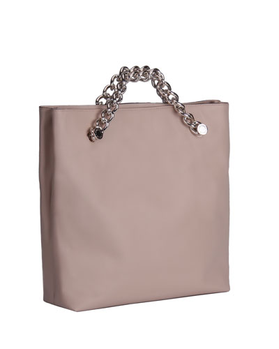 Van Leather Chain Clutch Bag, Cream Tan