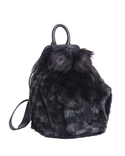 Koenji Faux-Fur Zip Backpack