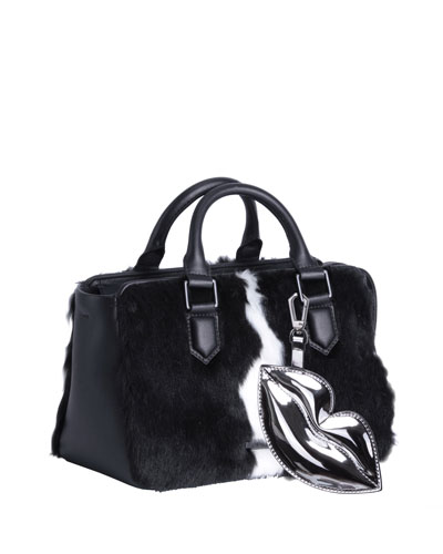 Claire Faux-Fur Satchel Bag