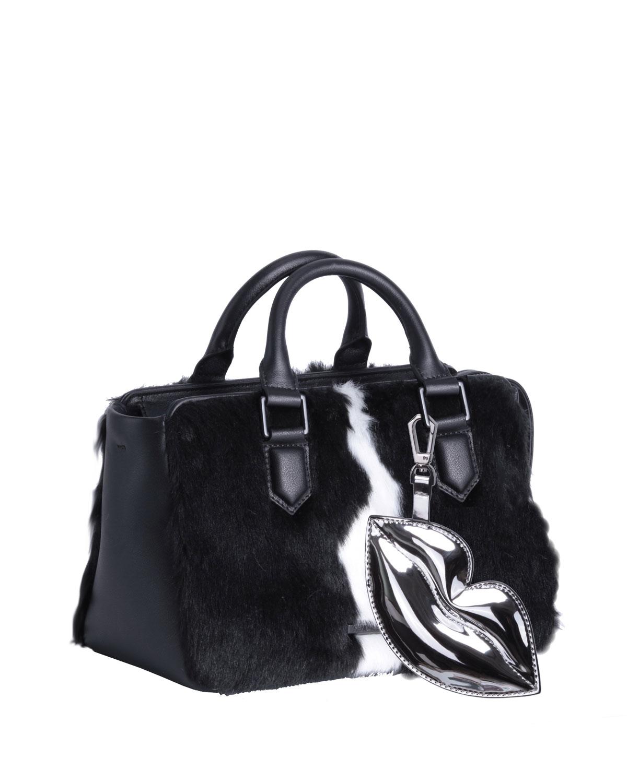 Claire Faux-Fur Satchel Bag