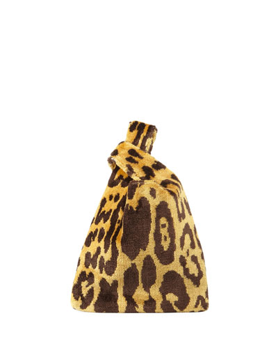 Mini Venetian Leopard Brocade Shopper Top Handle Bag
