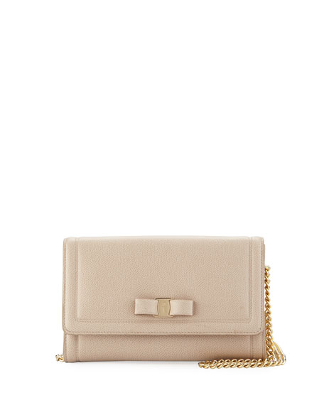 Salvatore Ferragamo Miss Vara Wallet Mini Bag, Macademia