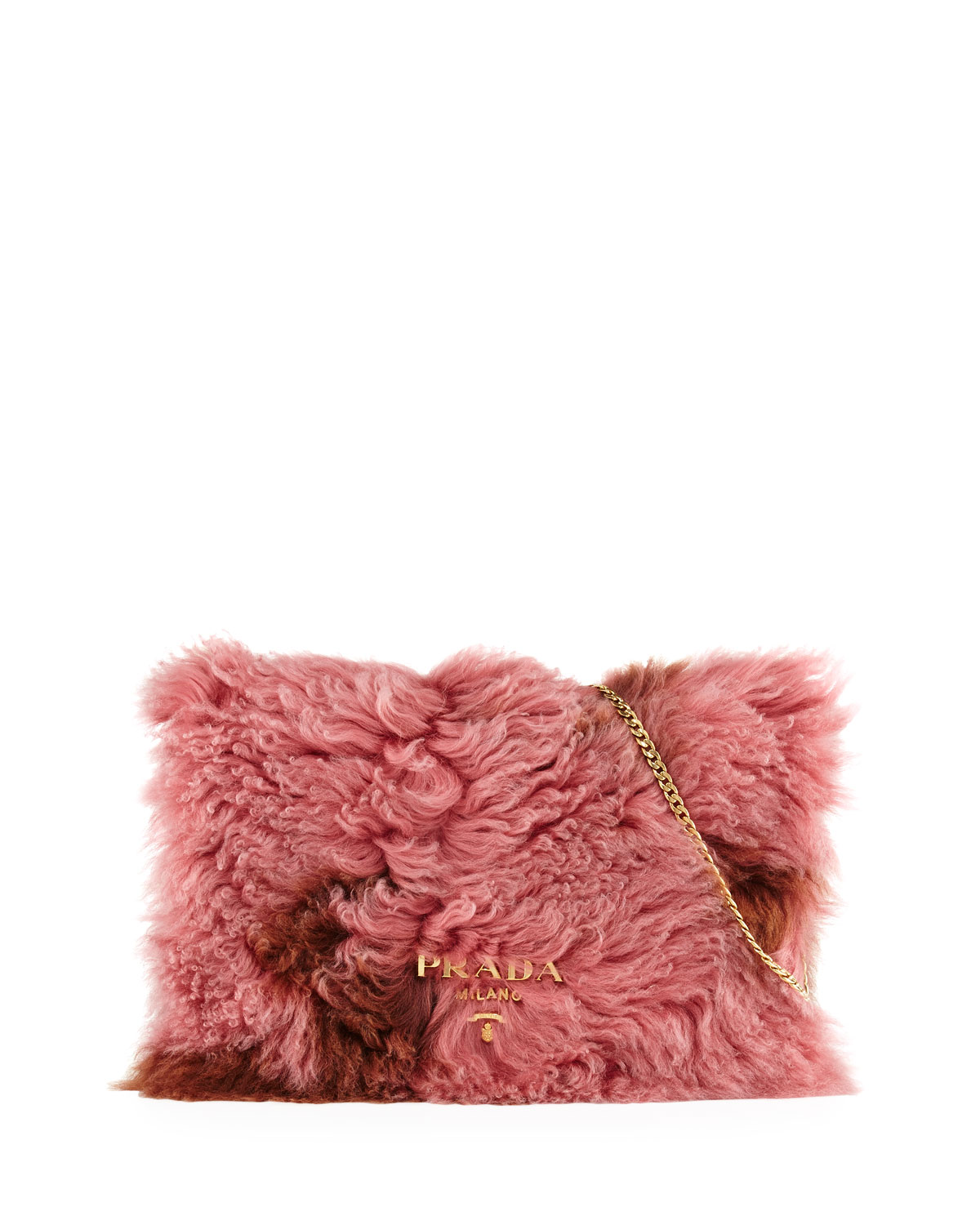 Shearling Fur Flap Chain Shoulder Bag