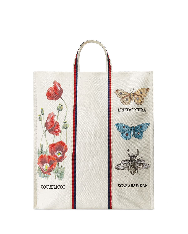 Bestiary Large Botanical Canvas Tote Bag