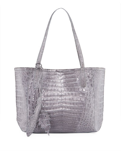 Erica Small New Crocodile Leaf Tote Bag