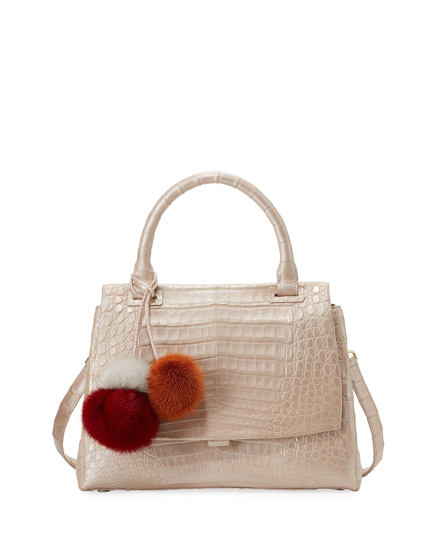 Sophie Small Crocodile Satchel Bag
