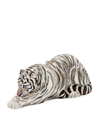 Byakko White Tiger Crystal Clutch Bag