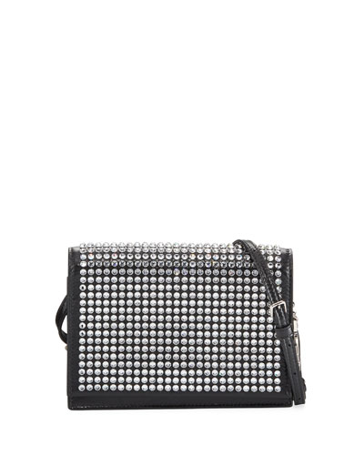 Toy Kate Small Crystal Flap Crossbody Bag