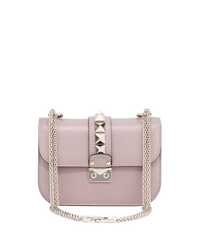 Small Rockstud Flap Lock-Chain Shoulder Bag