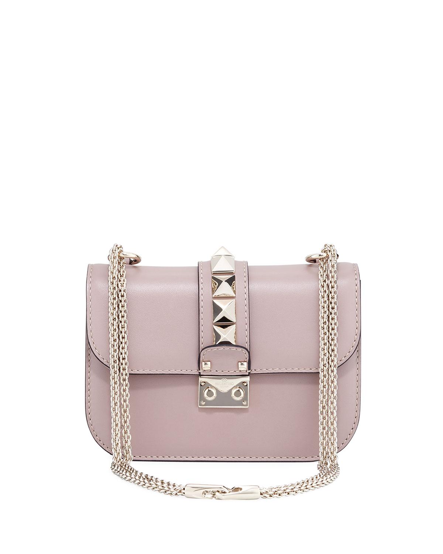 Small Rockstud Flap Lock-Chain Shoulder Bag