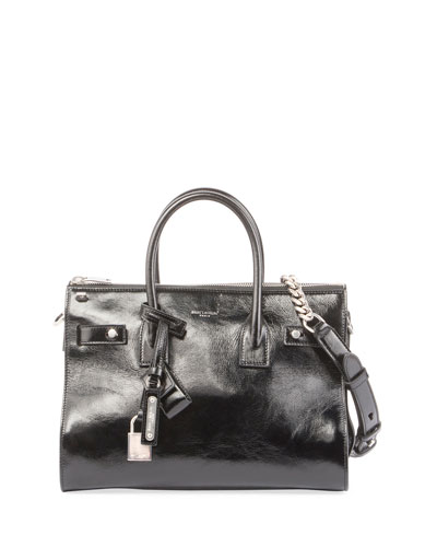 Sac de Jour Baby Crinkled Leather Tote Bag