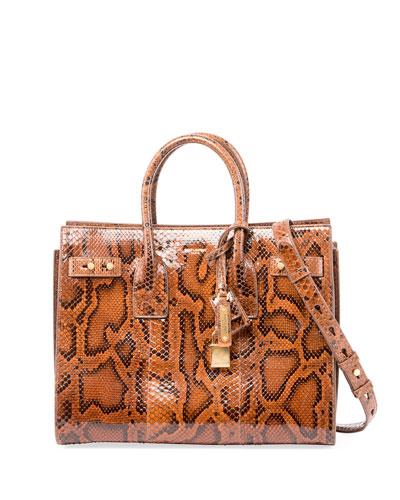 Sac de Jour Small Python Tote Bag