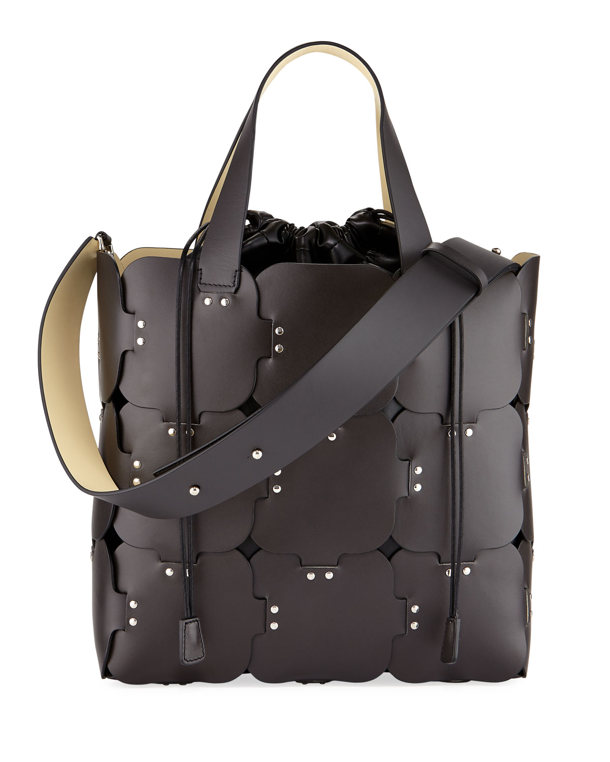 16#01 Cabas Medium Studded Patchwork Tote Bag