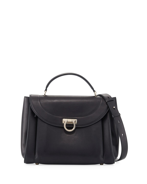 Medium Rainbow Top-Handle Bag