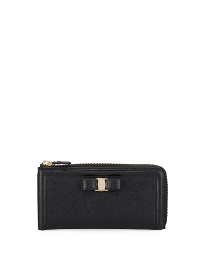 Zip-Around Gancio Wallet, Black