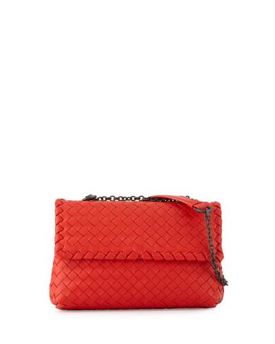 Baby Olimpia Intrecciato Shoulder Bag, Red