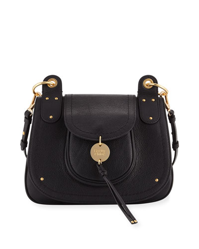 Medium Leather Flap Shoulder Bag