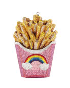 French Fries Rainbow Clutch Bag