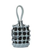 Roxy Denim Caged Mini Small Bucket Bag