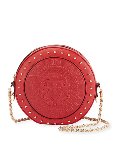 Renaissance Leather Shoulder Bag - Red, Pink