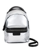 Falabella Metallic Nylon Mini Backpack
