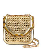 Falabella Mini Woven Shoulder Box Bag
